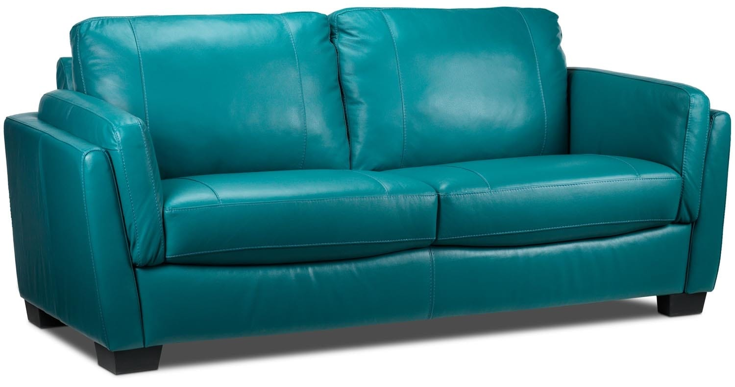 Living Room Furniture - Isadore Sofa - Turquoise