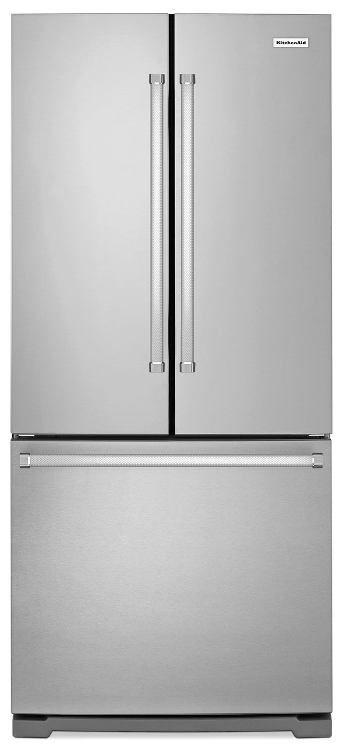 Refrigerators and Freezers - KitchenAid 19.7 Cu. Ft. French Door Refrigerator with Interior Water Dispenser - Stainless Steel