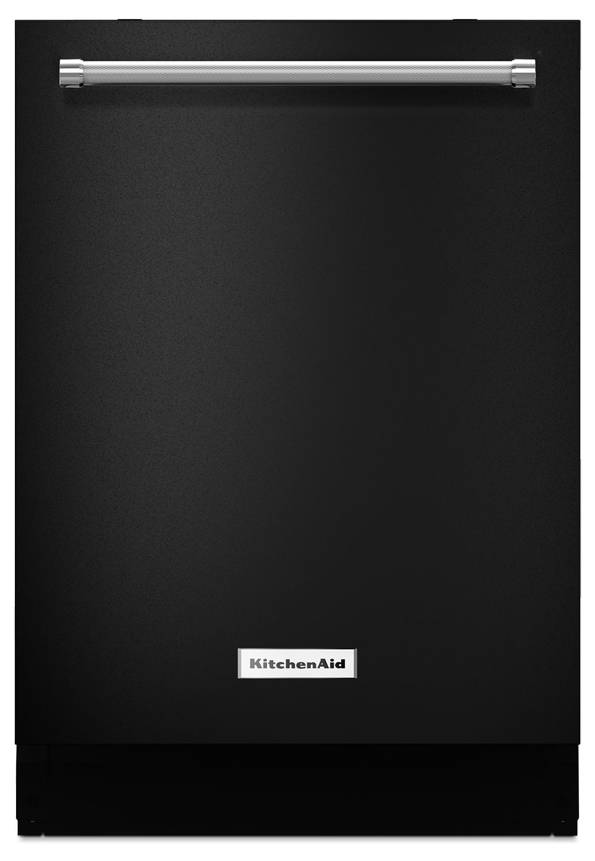 "Clean-Up - KitchenAid 24"" Dishwasher with ProScrub® Option - Black"