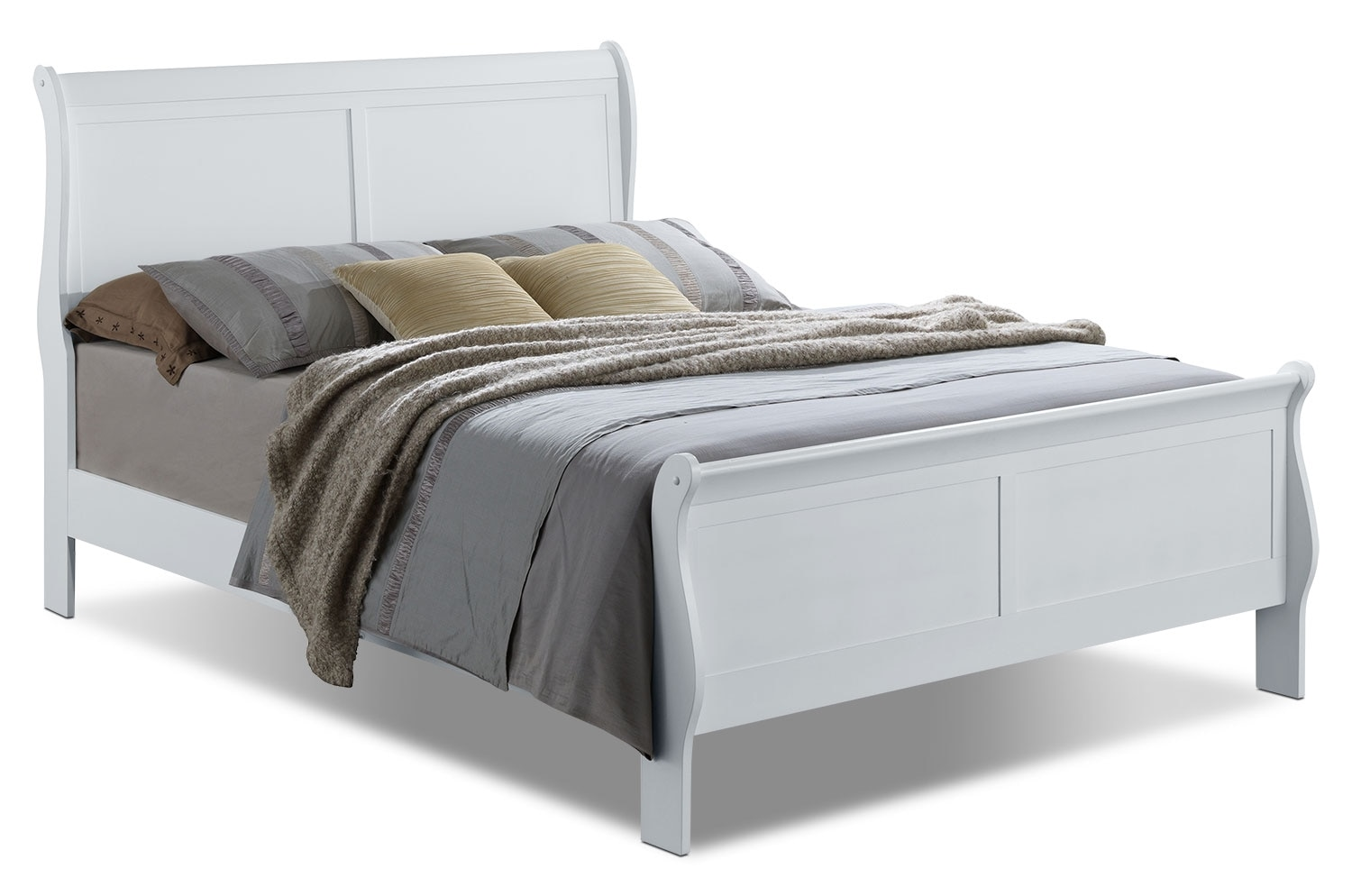 Bedroom Furniture - Belleview Queen Sleigh Bed - White