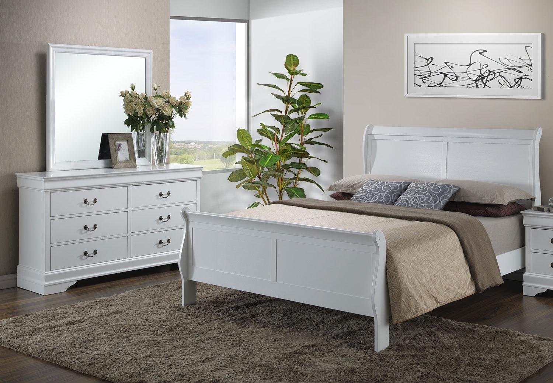 Bedroom Furniture - Belleview 5-Piece King Bedroom Package - White