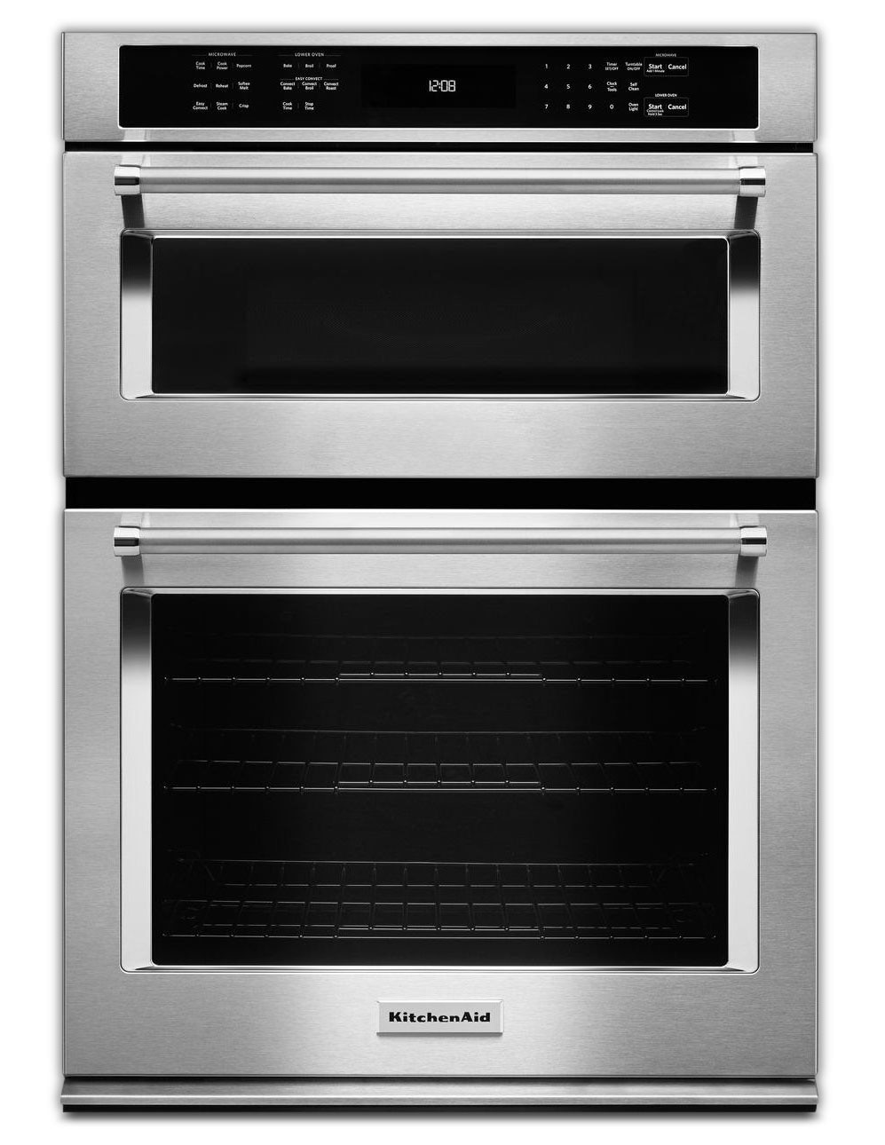 Cooking Products - KitchenAid Wall Oven with Microwave KOCE500ESS