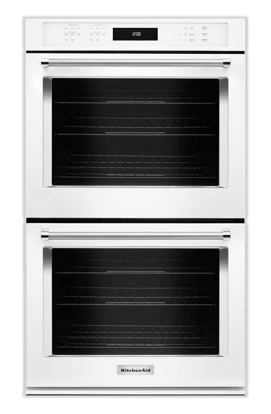 Cooking Products - KitchenAid White Convection Double Wall Oven (10 Cu. Ft.) - KODE500EWH