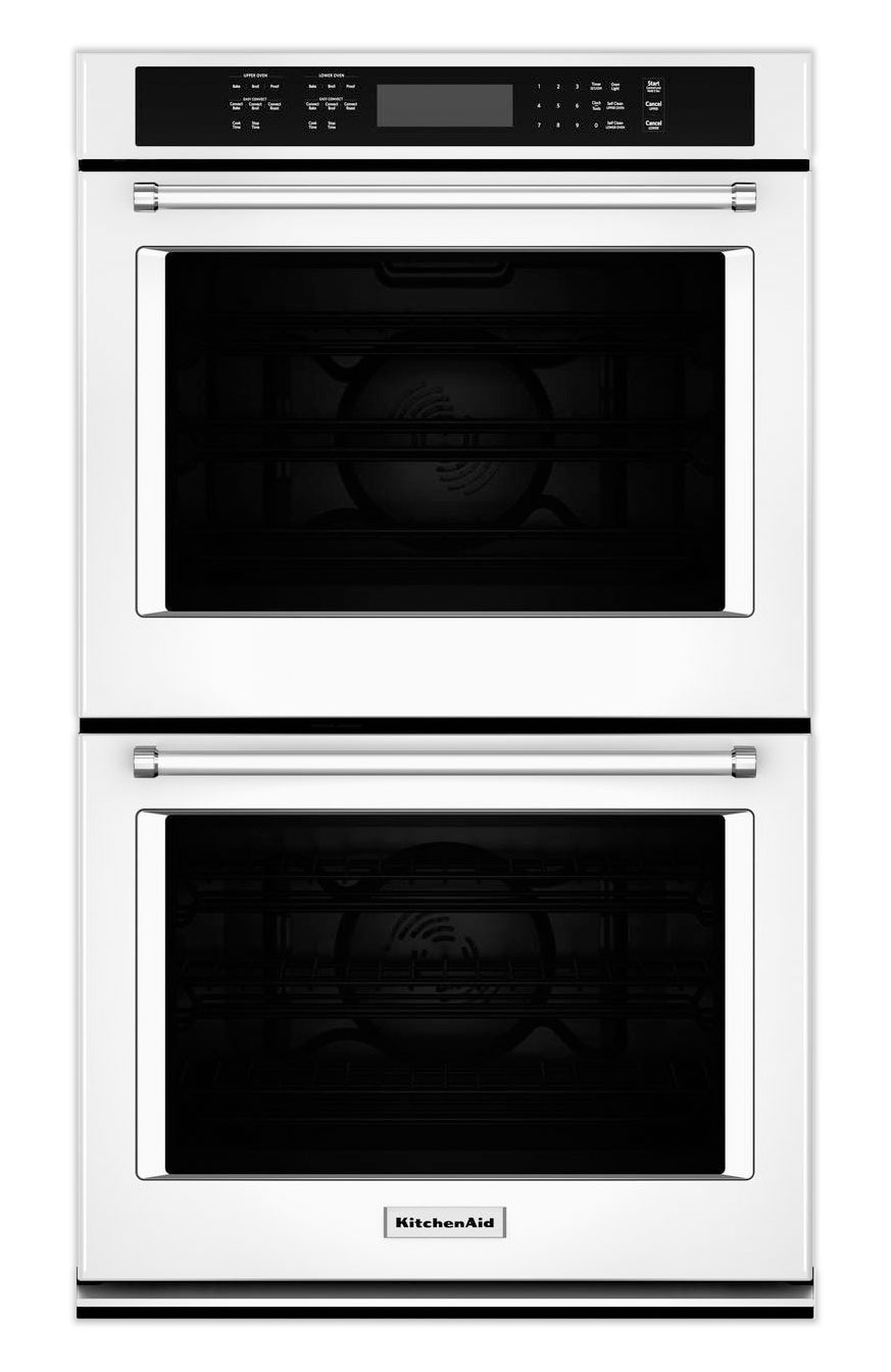 Cooking Products - KitchenAid White Convection Double Wall Oven (8.6 Cu. Ft.) - KODE507EWH