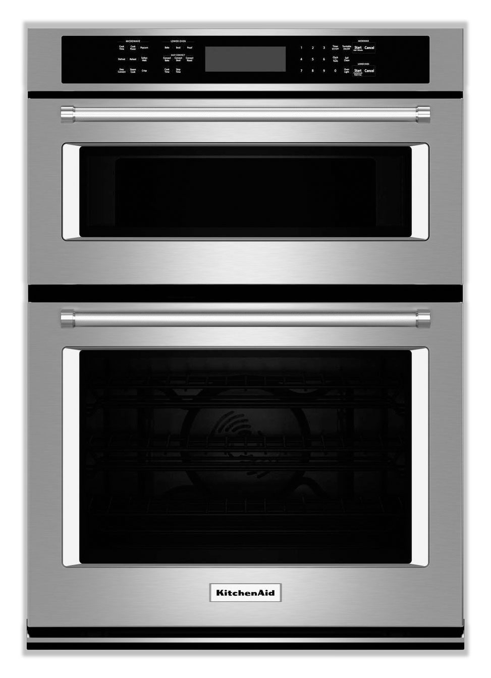 Cooking Products - KitchenAid Stainless Steel Wall Oven (4.3 Cu. Ft.) w/ Microwave (1.4 Cu. Ft.) - KOCE507ESS