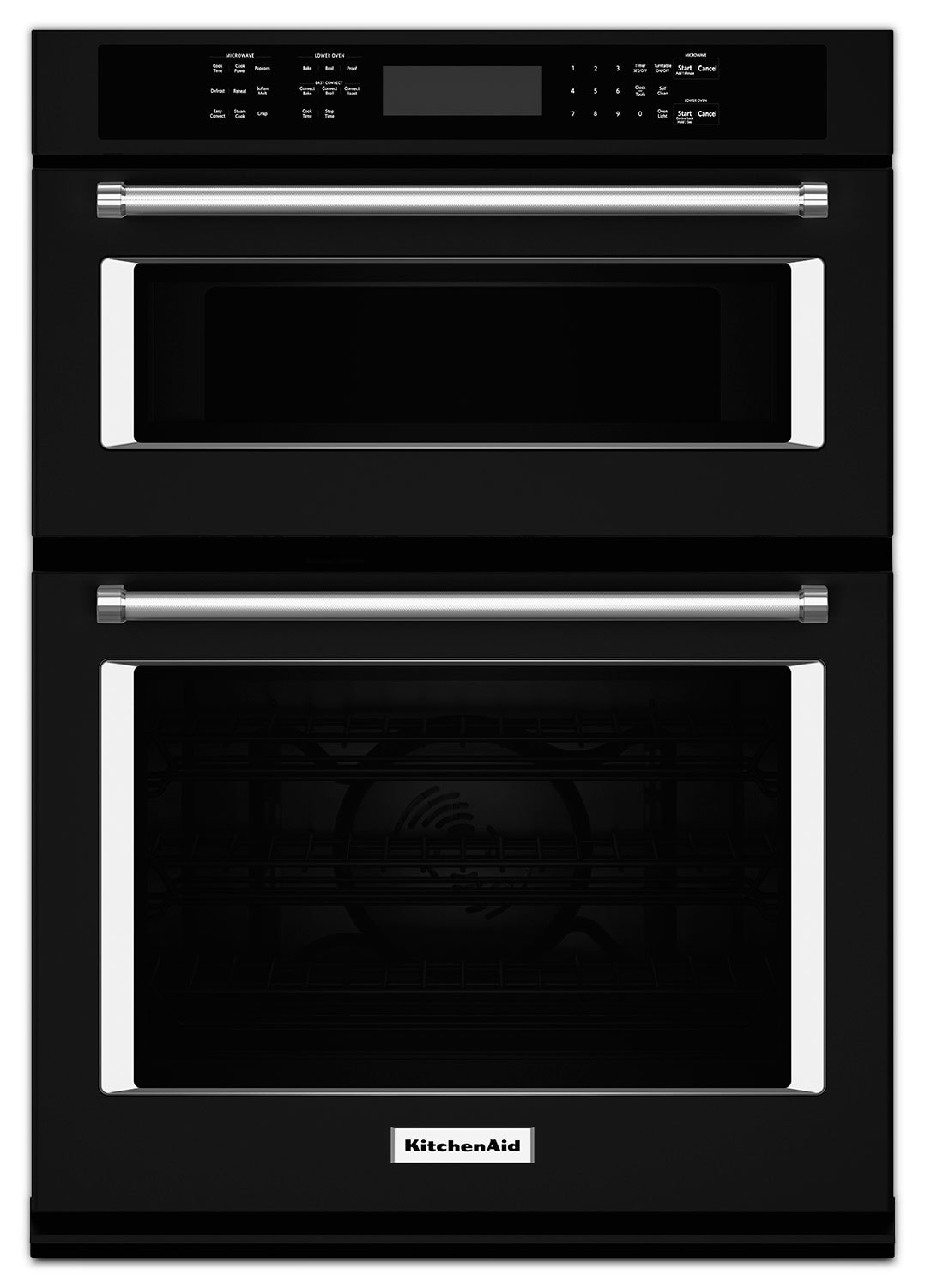 Cooking Products - KitchenAid Black Wall Oven (4.3 Cu. Ft.) w/ Microwave (1.4 Cu. Ft.) - KOCE507EBL