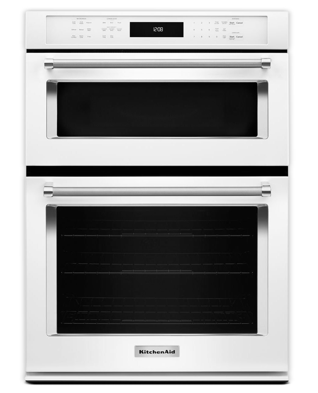Cooking Products - KitchenAid White Wall Oven (5 Cu. Ft.) w/ Microwave (1.4 Cu. Ft.) - KOCE500EWH