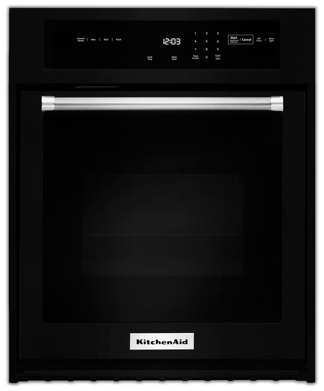 KitchenAid Black Convection Wall Oven (4.3 Cu. Ft.) - KOSE507EBL
