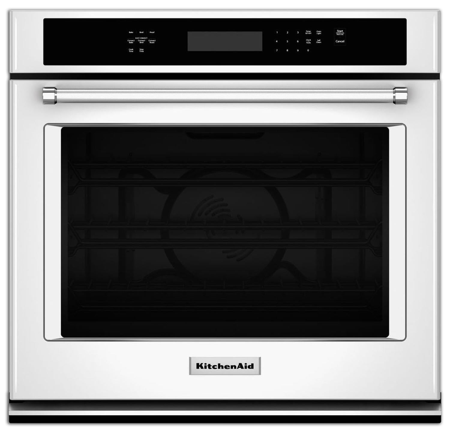 Cooking Products - KitchenAid White Convection Wall Oven (4.3 Cu. Ft.) - KOSE507EWH