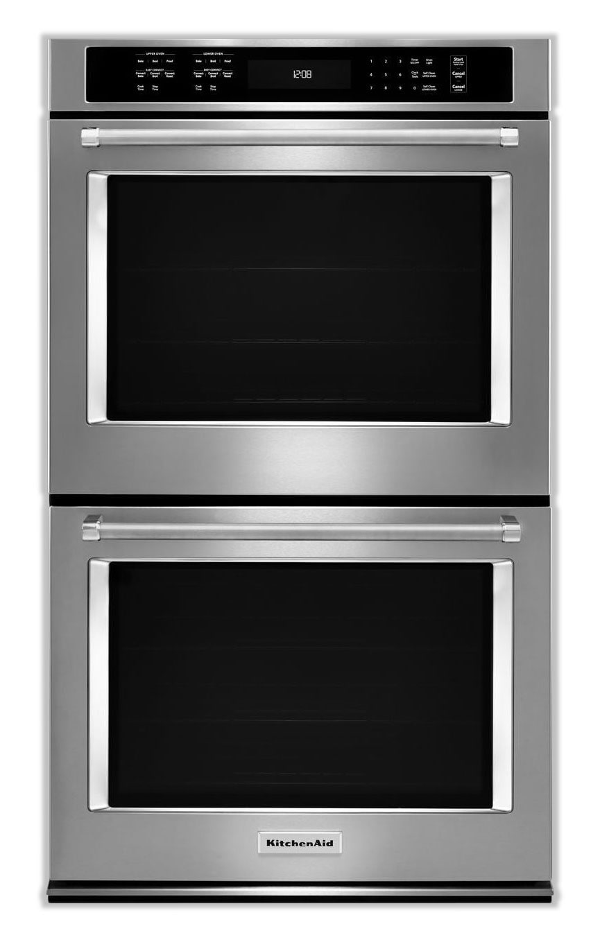Cooking Products - KitchenAid Stainless Steel Double Wall Oven (10 Cu. Ft.) - KODE500ESS