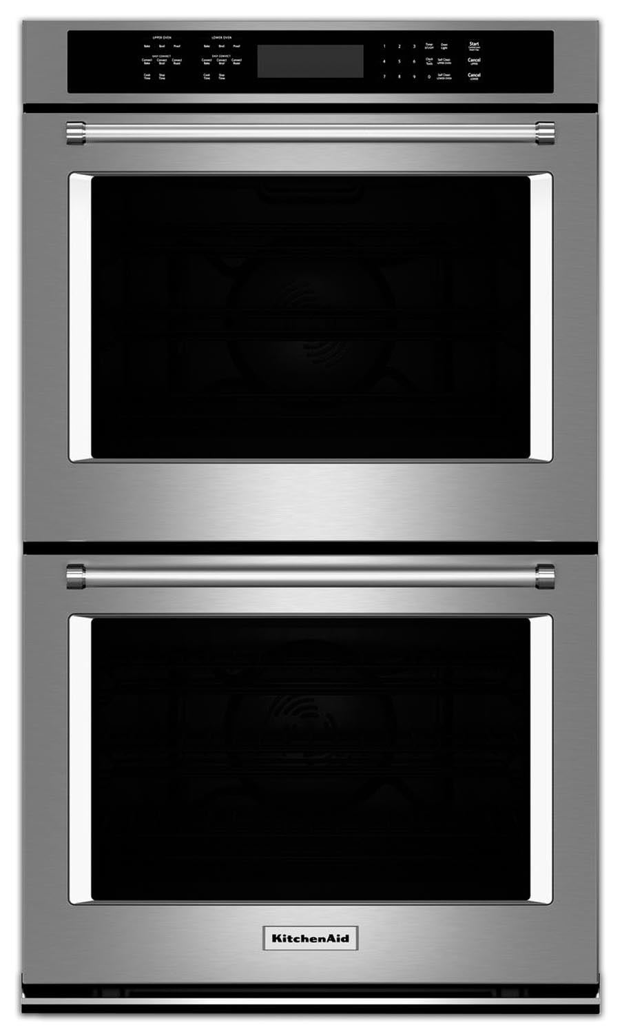 Cooking Products - KitchenAid Stainless Steel Convection Double Wall Oven (8.6 Cu. Ft.) - KODE507ESS