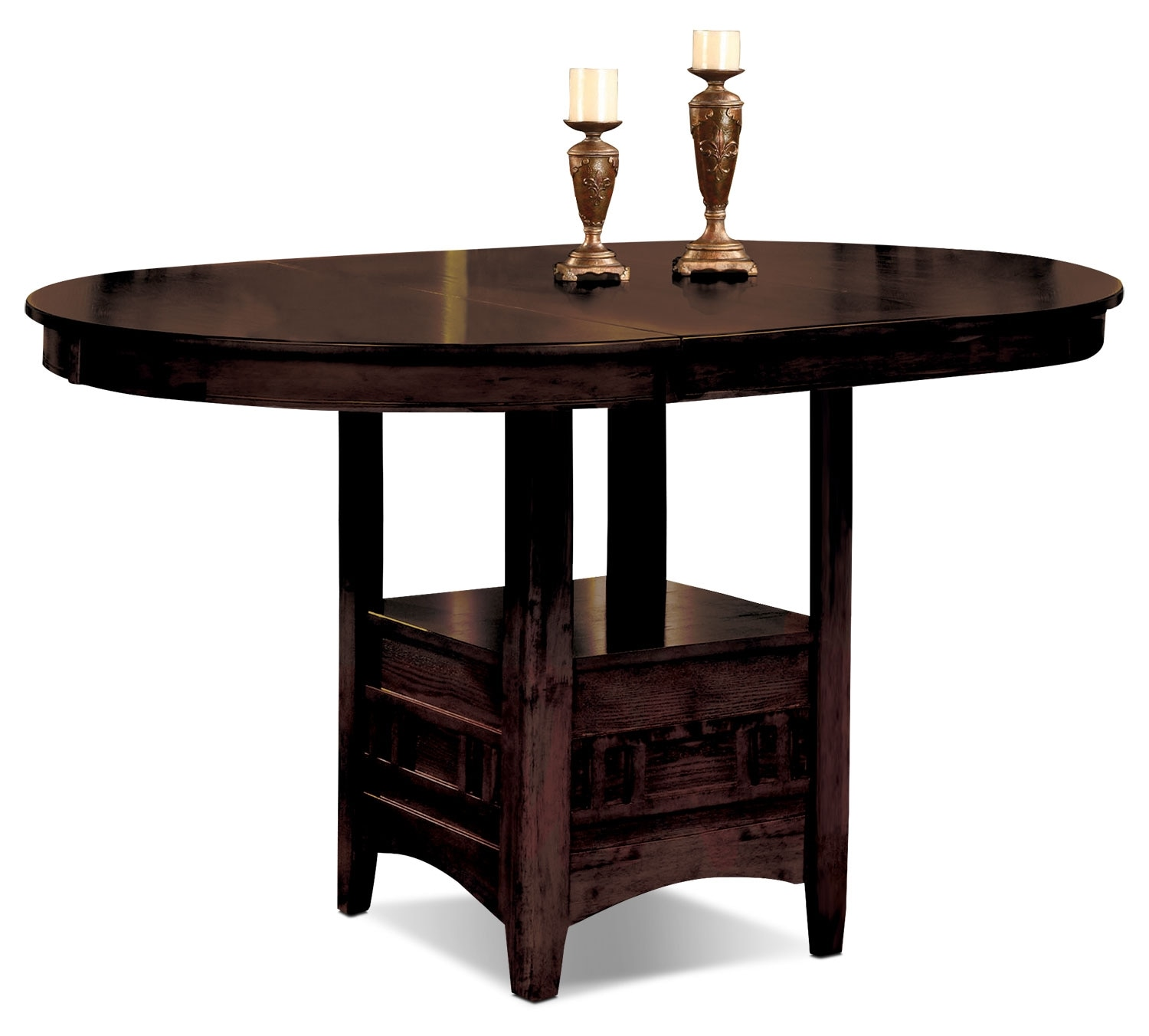 Dalton chocolate counter height table the brick for Dining room tables 0 finance