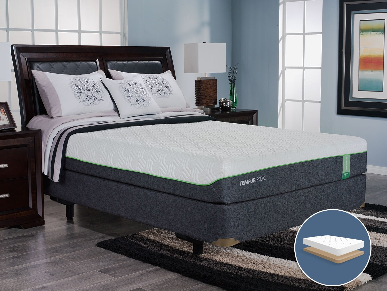 Mattresses and Bedding - TEMPUR-Flex™ Brighton Low-Profile Queen Mattress Set