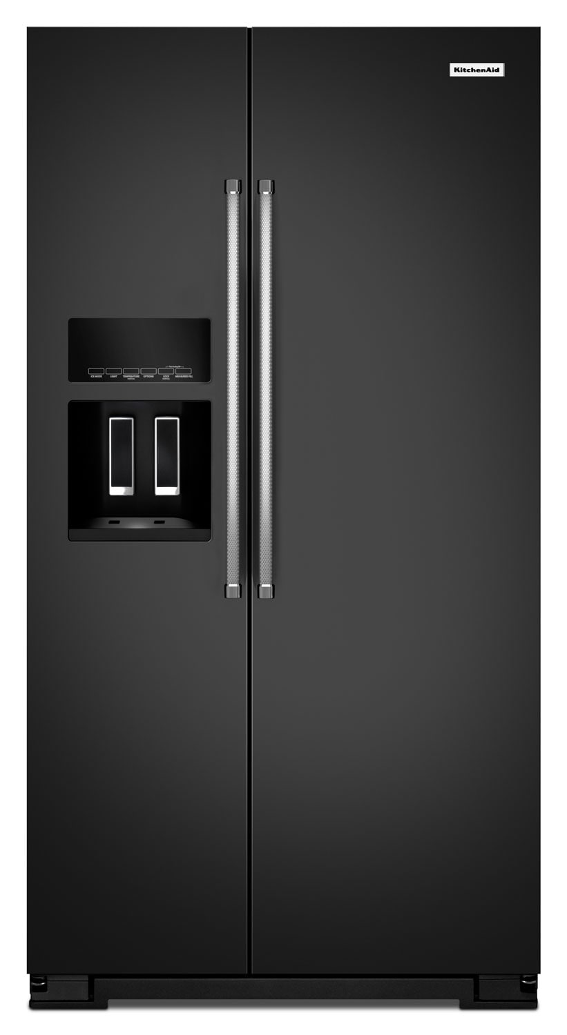 KitchenAid Black Side-by-Side Refrigerator (24.8 Cu. Ft.) - KRSF505EBL