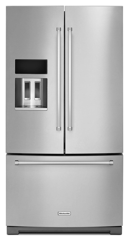 Refrigerators and Freezers - KitchenAid Stainless Steel French Door Refrigerator (26.8 Cu. Ft.) - KRFF707ESS
