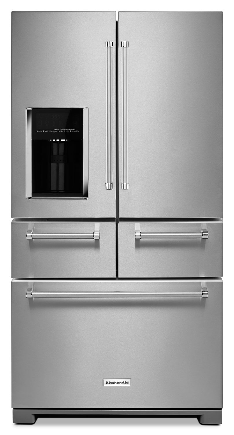 Refrigerators and Freezers - KitchenAid Stainless Steel French Door Refrigerator (26.2 Cu. Ft.)  - KRMF706ESS