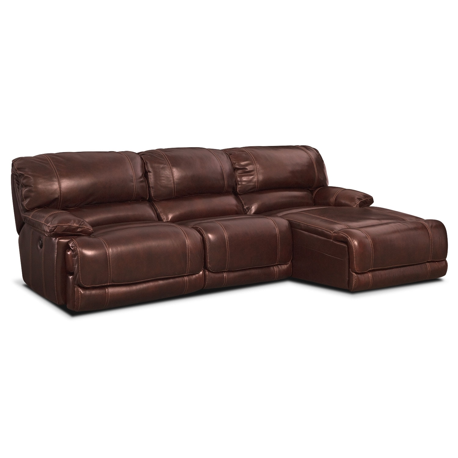 St malo iii 3 pc power reclining sectional value city for 3pc sectional with chaise