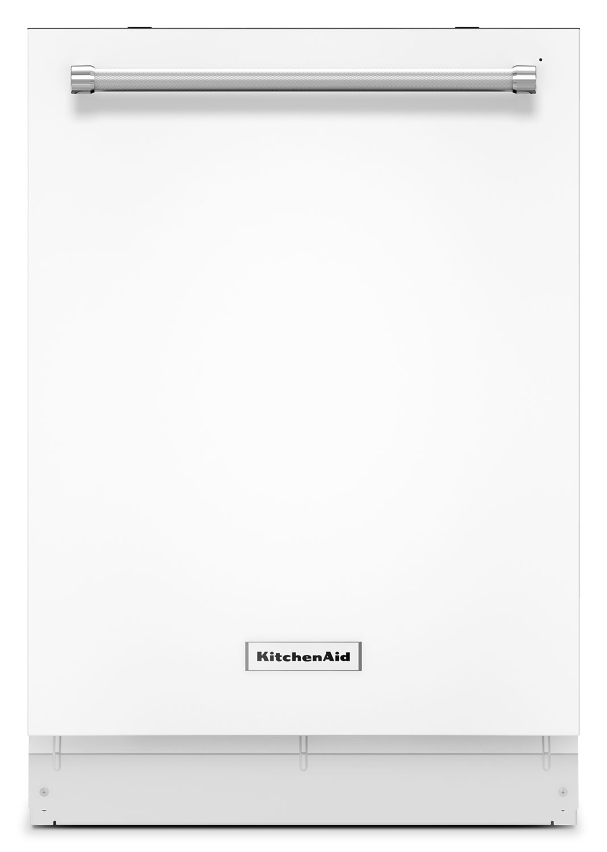 "Clean-Up - KitchenAid White 24"" Dishwasher - KDTE254EWH"