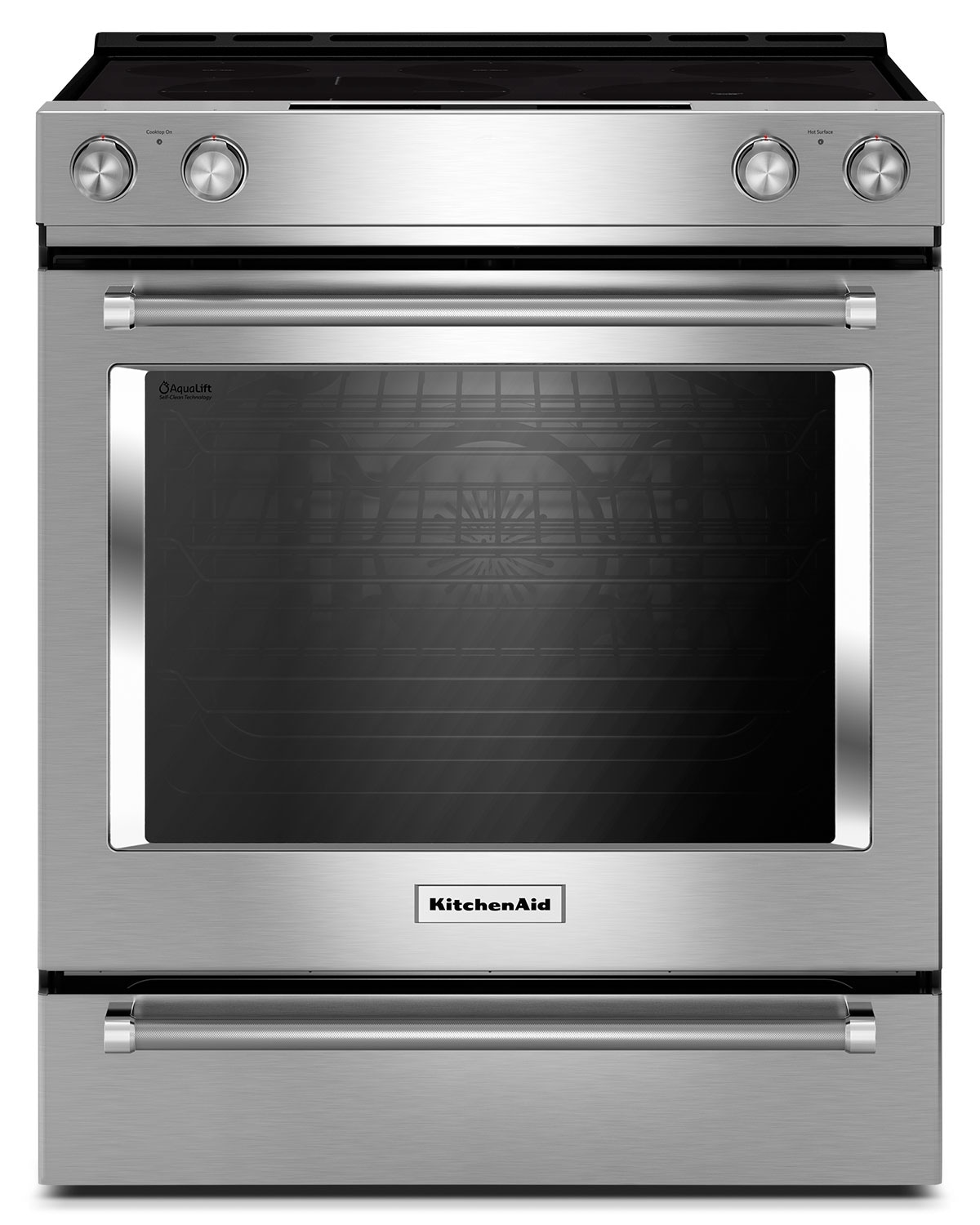 Cooking Products - KitchenAid 6.4 Cu. Ft. Slide-In Electric Convection Range - Stainless Steel