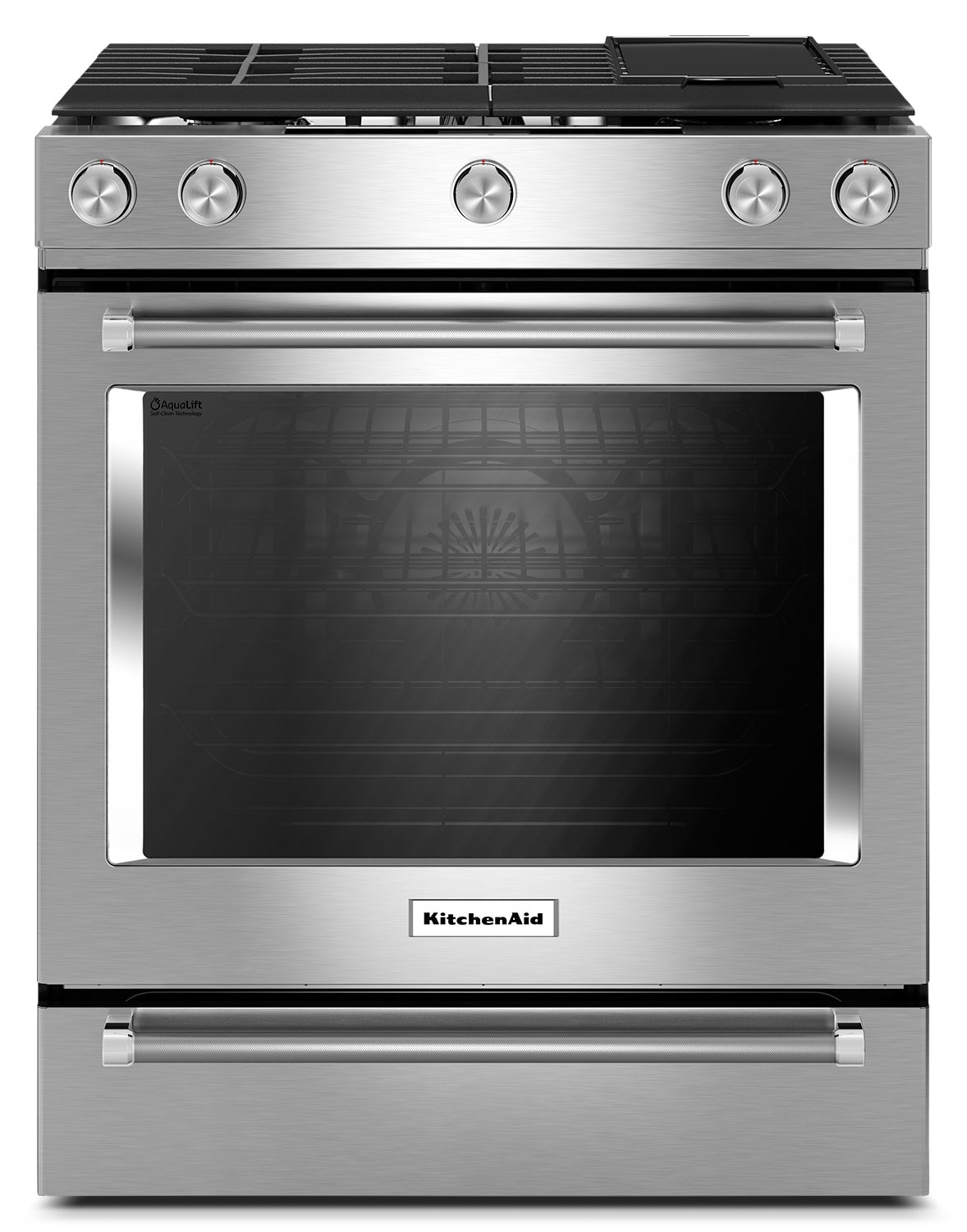Cooking Products - KitchenAid 7.1 Cu. Ft. Slide-In Dual Fuel Range with Baking Drawer - Stainless Steel