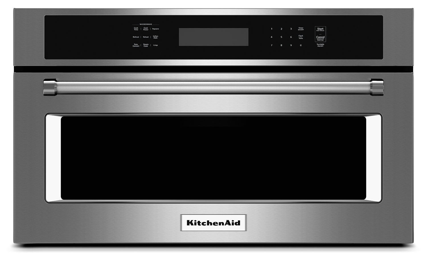 "Cooking Products - KitchenAid 1.4 Cu. Ft. 27"" Built-In Convection Microwave Oven - Stainless Steel"
