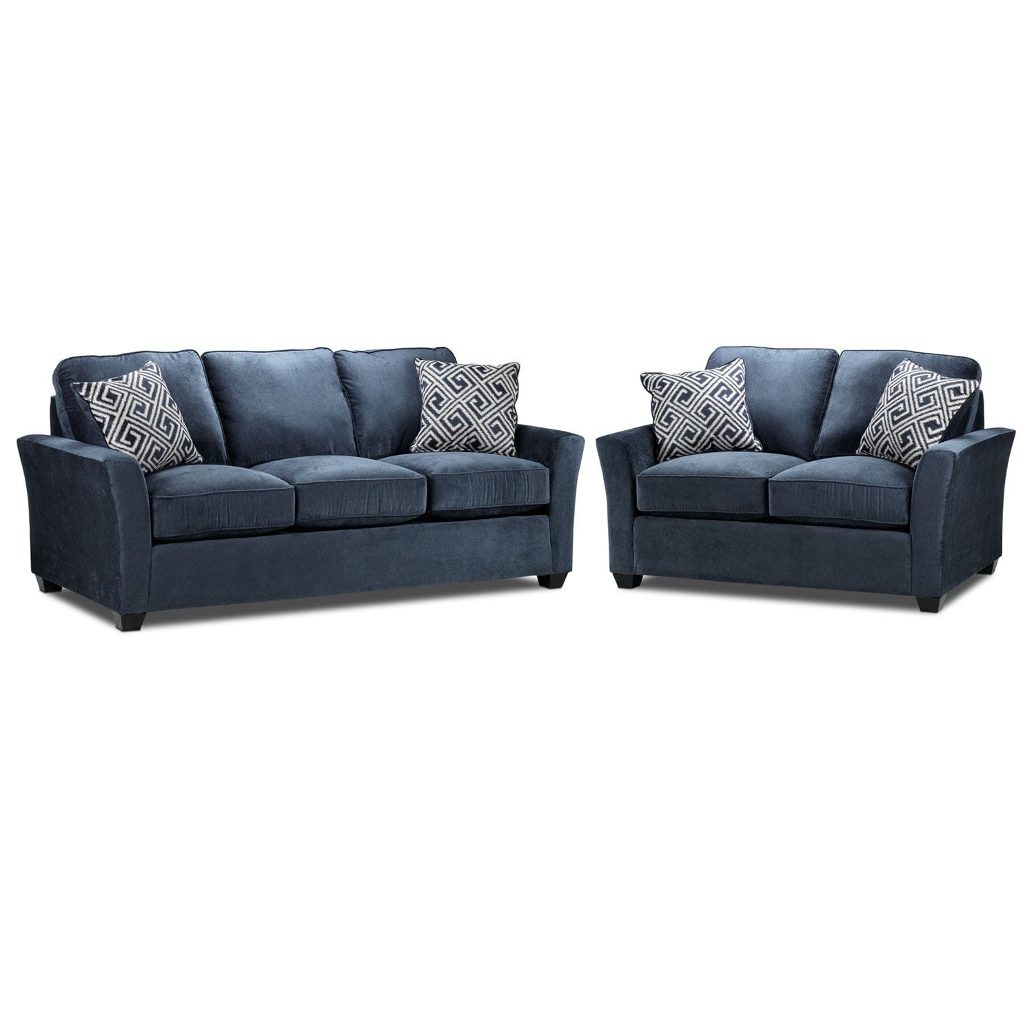 Living Room Furniture - Adalyn Sofa and Loveseat Package