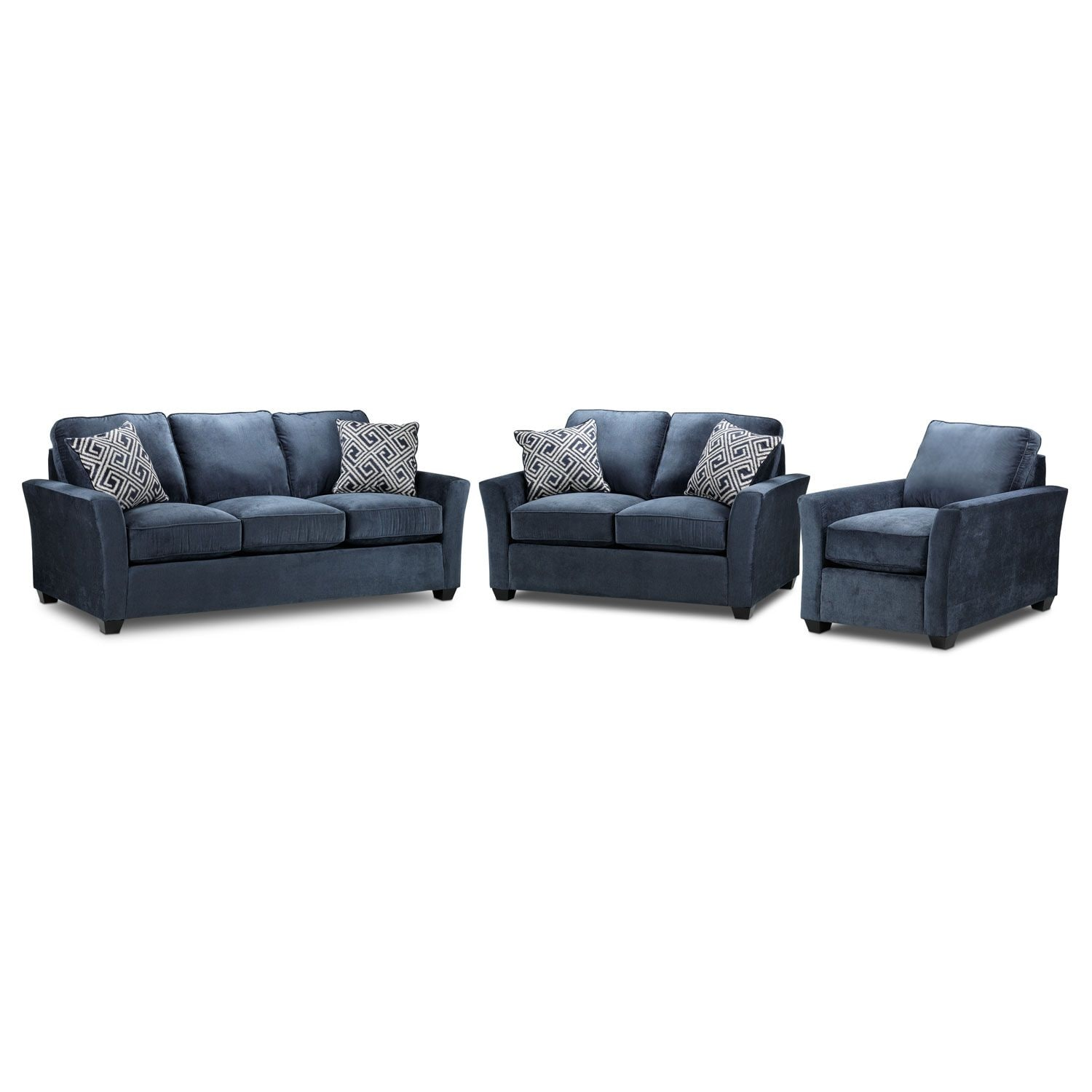 Living Room Furniture - Adalyn Sofa, Loveseat and Chair Package