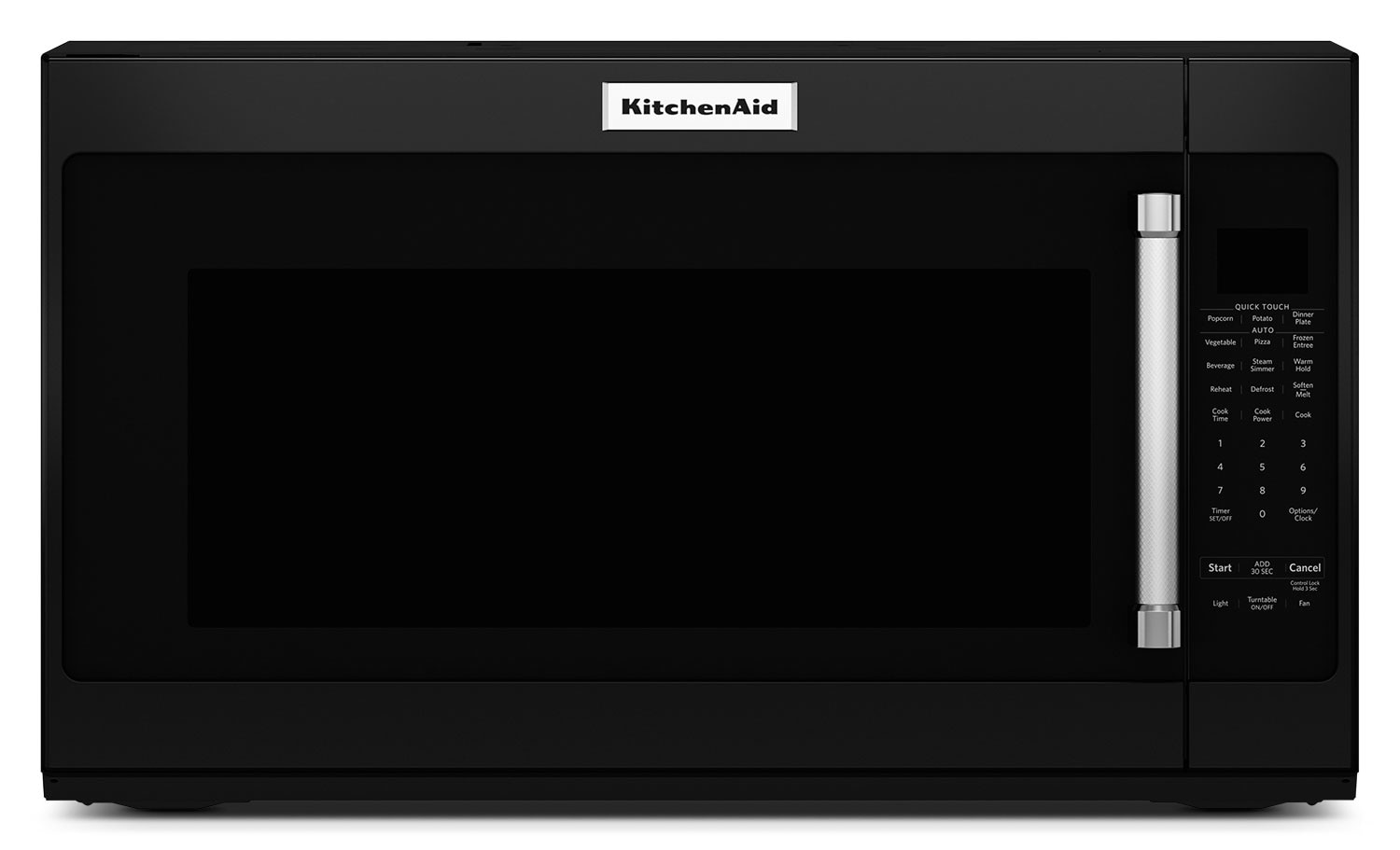 Cooking Products - KitchenAid 2.0 Cu. Ft. Over-the-Range Microwave with Sensor Functions - Black