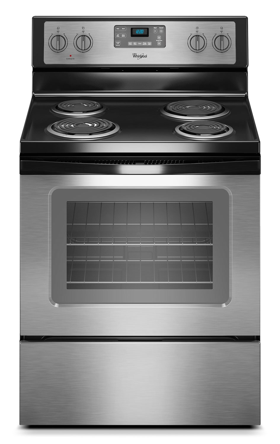 Cooking Products - Whirlpool 4.8 Cu. Ft. Electric Range with AccuBake® System - Stainless Steel