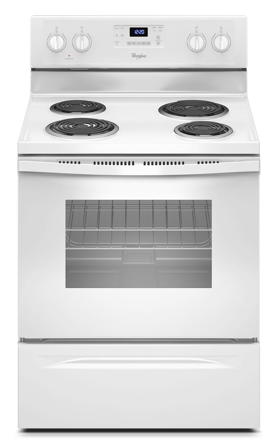 Cooking Products - Whirlpool 4.8 Cu. Ft. Electric Range with AccuBake® System - White