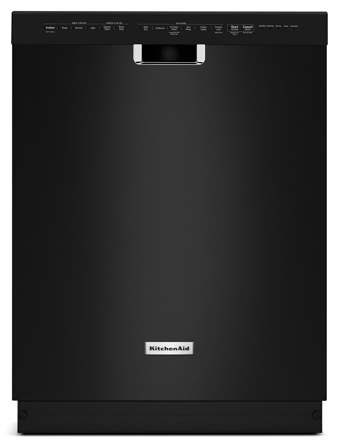 Clean-Up - KitchenAid Black Dishwasher - KDFE204EBL