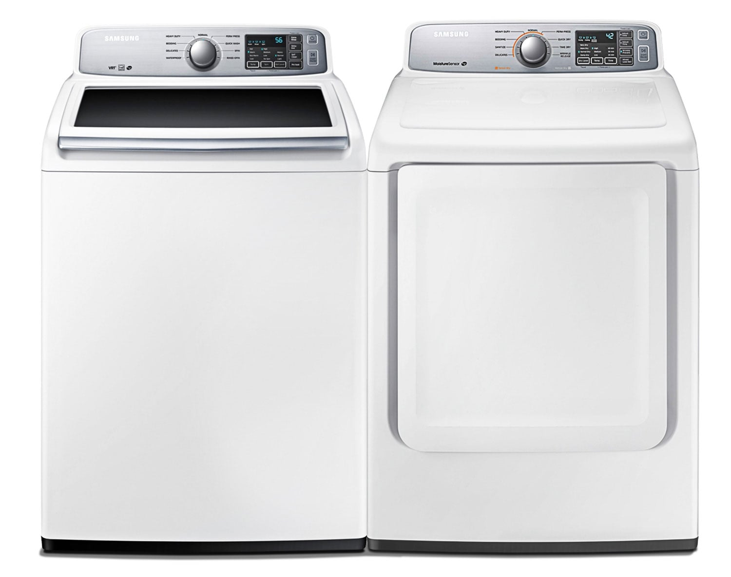 [Samsung White Top-Load Laundry Pair]