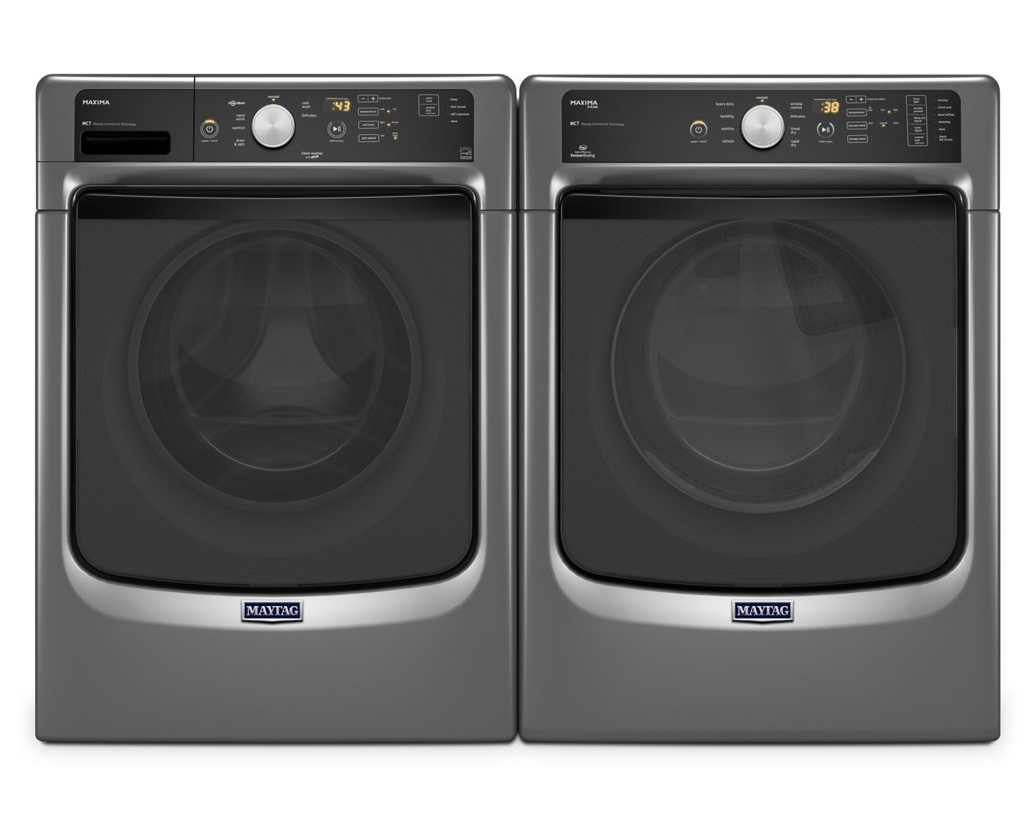 Maytag Maxima Metallic Slate Top-Load Laundry Pair