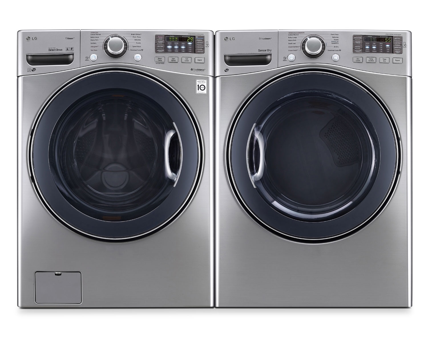 [LG Ultra Large Graphite Steel Front-Load Laundry Pair]