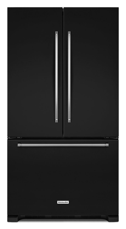 Refrigerators and Freezers - KitchenAid Black French Door Refrigerator (21 Cu. Ft.) - KRFC302EBL
