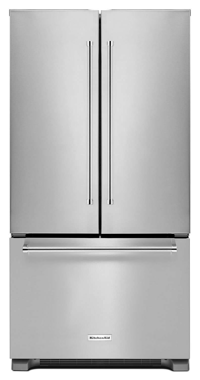 Refrigerators and Freezers - KitchenAid Stainless Steel French Door Refrigerator (21 Cu. Ft.)  - KRFC302ESS
