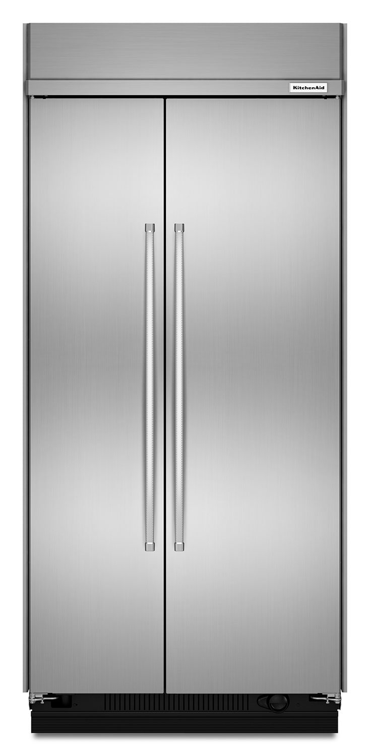 Refrigerators and Freezers - KitchenAid Stainless Steel Side-by-Side Refrigerator (25.5 Cu. Ft.) - KBSN602ESS