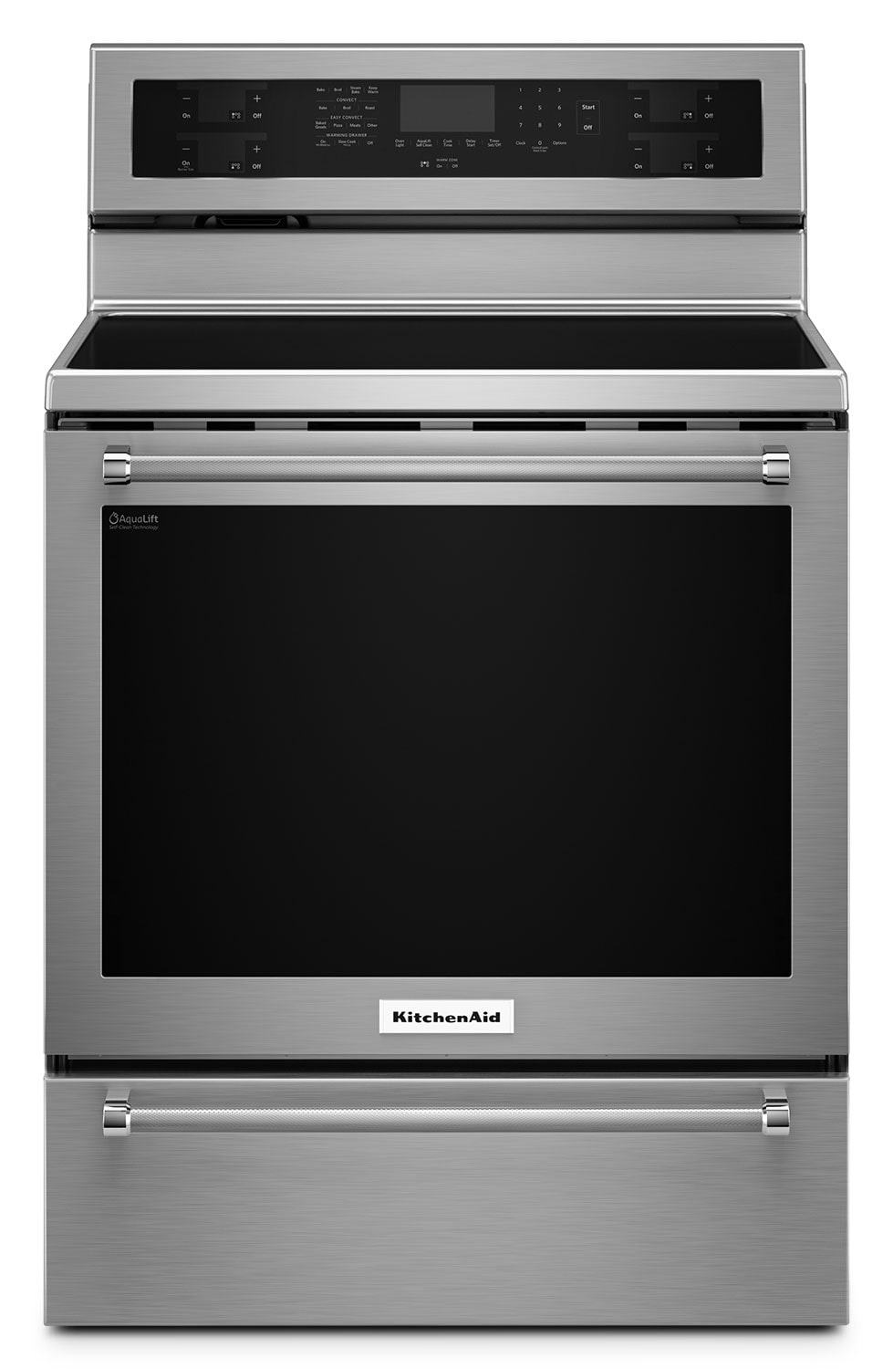 Cooking Products - KitchenAid Stainless Steel Freestanding Electric Convection Range (6.4 Cu. Ft.) - YKFES530ESS