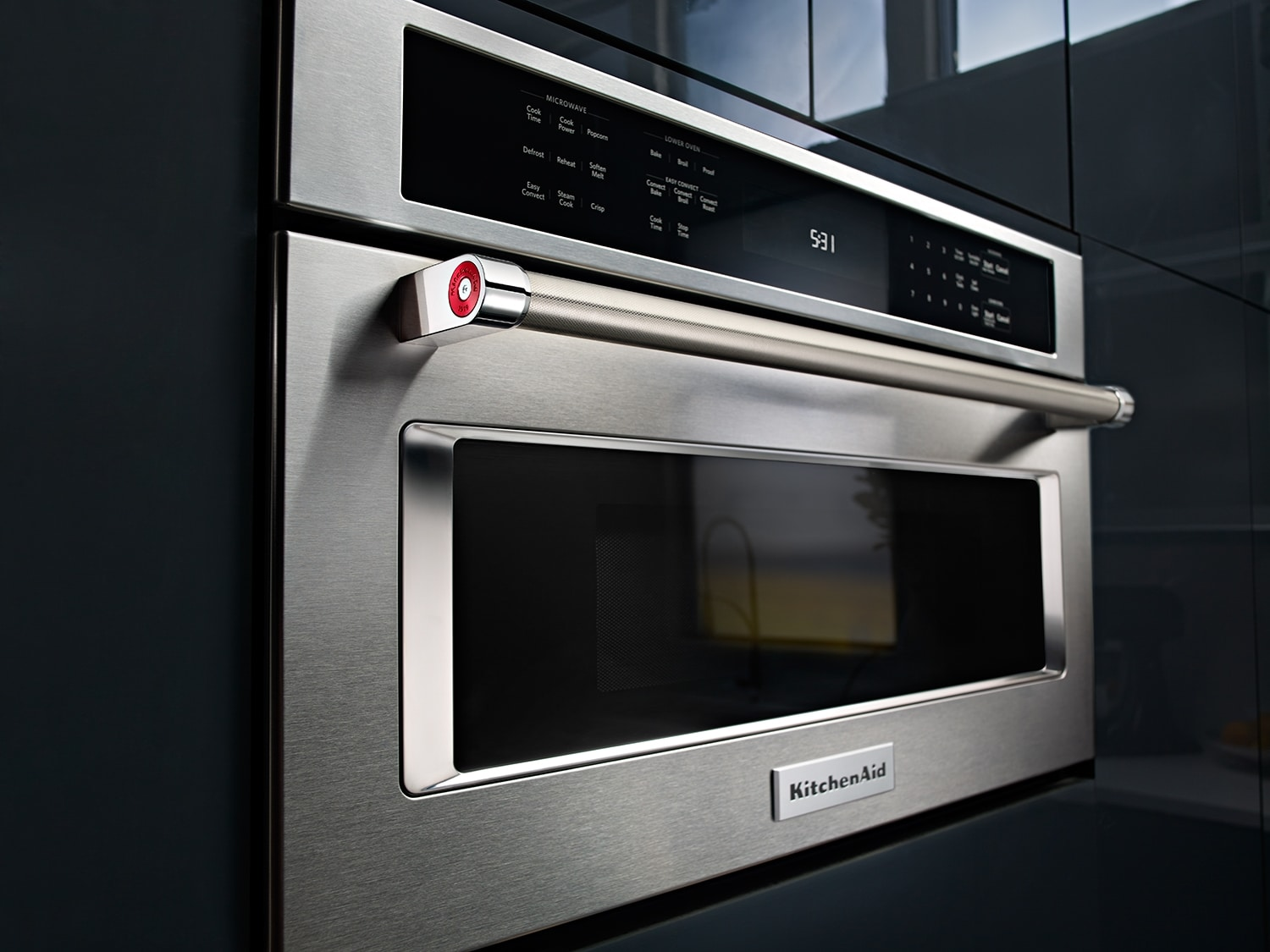 Kitchenaid 1 4 Cu Ft 30 Quot Built In Convection Microwave