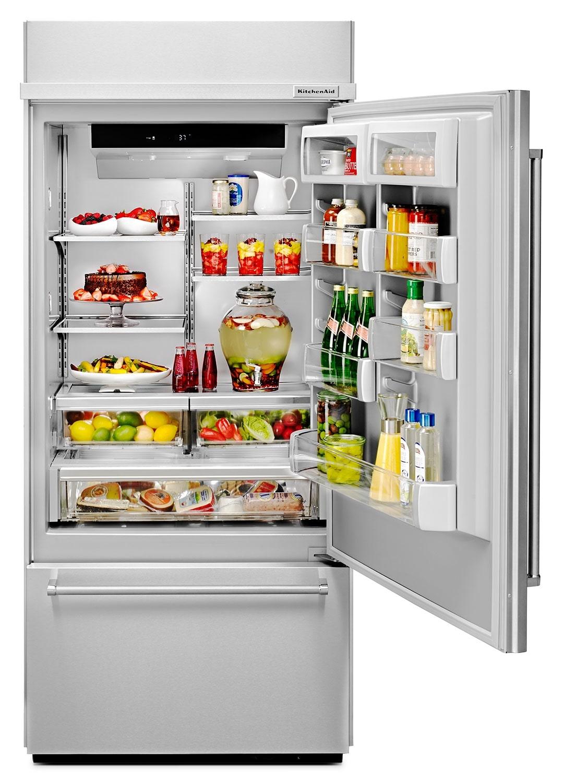 Kitchenaid Stainless Steel Bottom Freezer Refrigerator 20 9 Cu Ft Kbbr306ess Leon 39 S