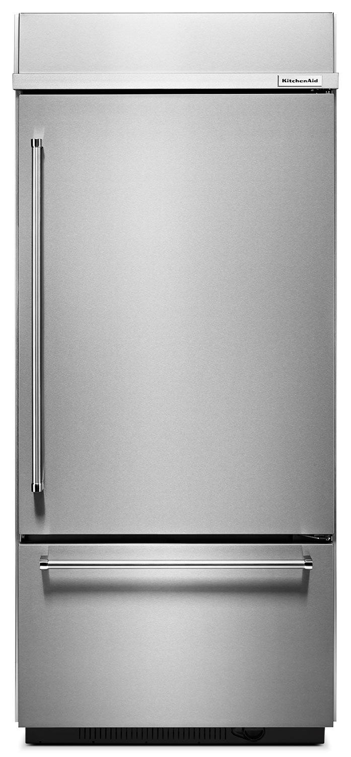 Refrigerators and Freezers - KitchenAid Stainless Steel Bottom-Freezer Refrigerator (20.9 Cu. Ft.)  - KBBR306ESS