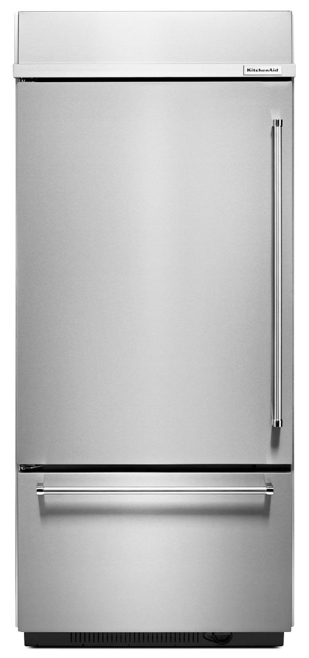 KitchenAid Stainless Steel Bottom-Freezer Refrigerator (20.9 Cu. Ft.) - KBBL306ESS