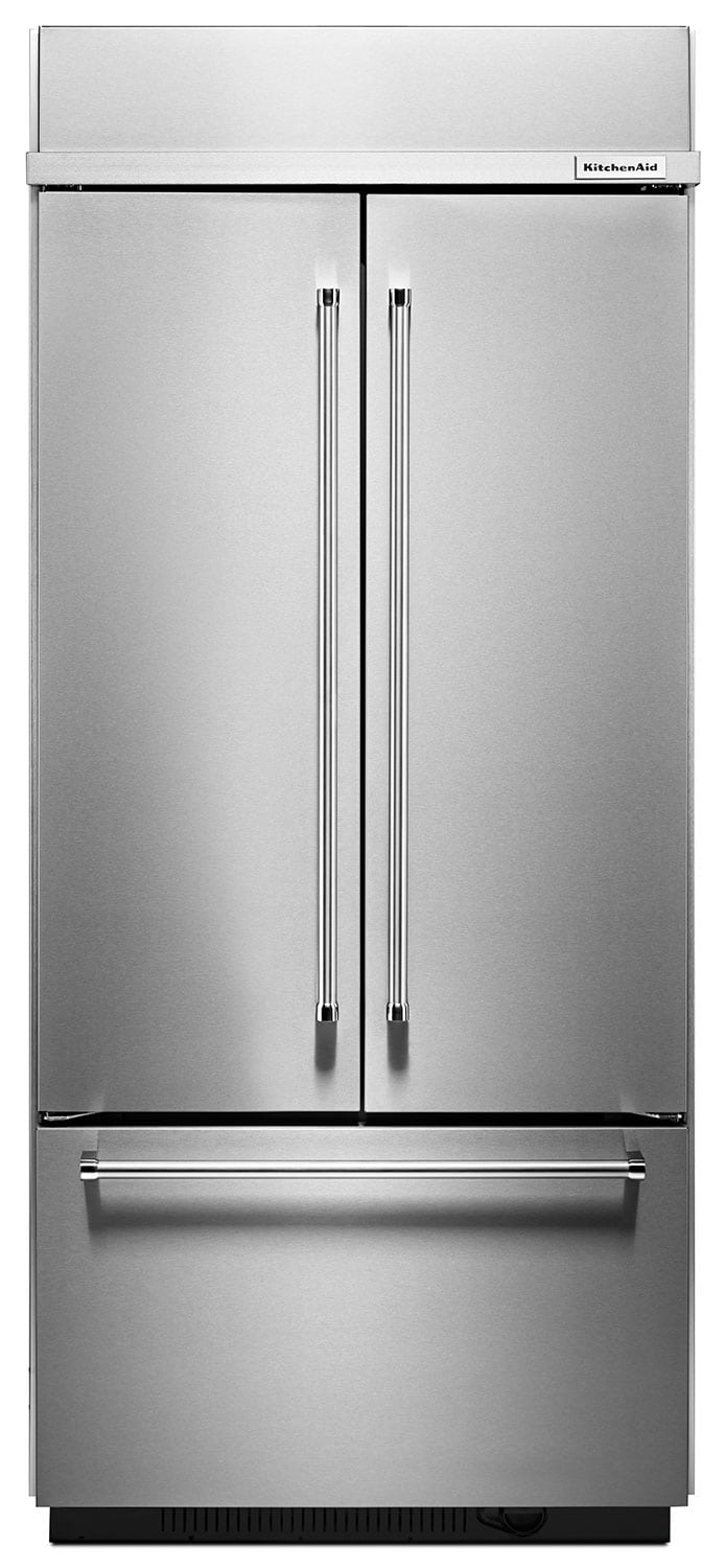 Refrigerators and Freezers - KitchenAid Stainless Steel French Door Refrigerator (20.8 Cu. Ft.) - KBFN406ESS