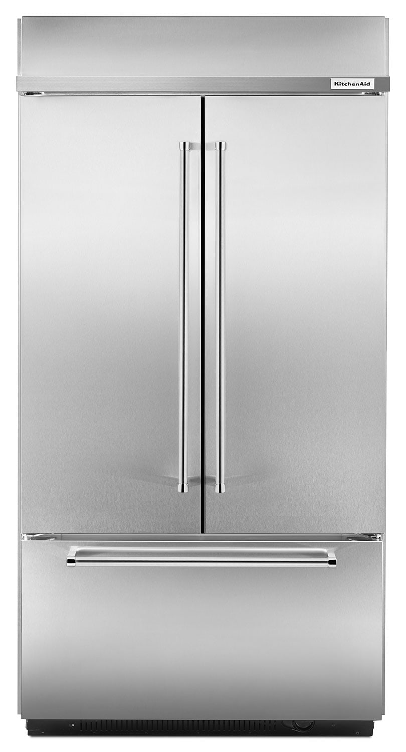 KitchenAid 24.2 Cu. Ft. Built-In French-Door Refrigerator – KBFN402ESS