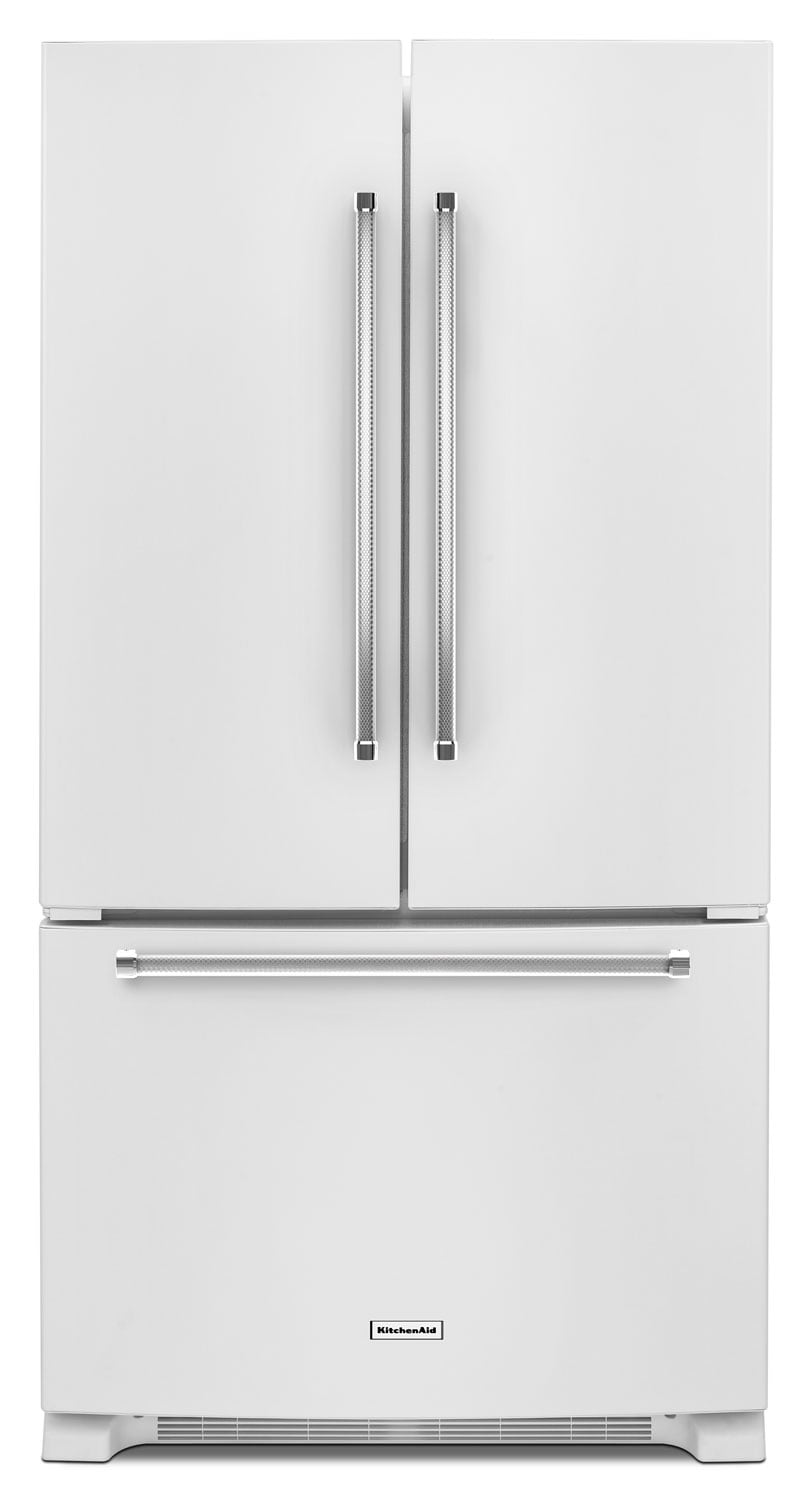 Refrigerators and Freezers - KitchenAid White French Door Refrigerator (20 Cu. Ft.) - KRFC300EWH