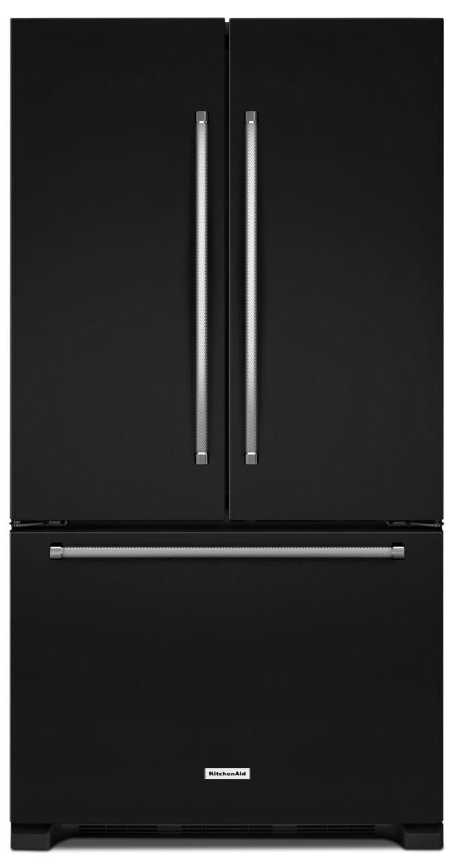 Refrigerators and Freezers - KitchenAid Black French Door Refrigerator (20 Cu. Ft.) - KRFC300EBL