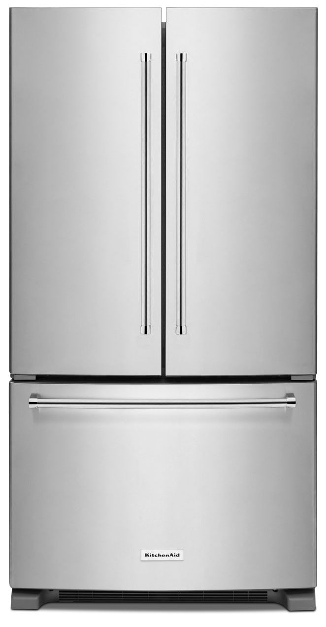 Refrigerators and Freezers - KitchenAid Stainless Steel French Door Refrigerator (20 Cu. Ft.) - KRFC300ESS