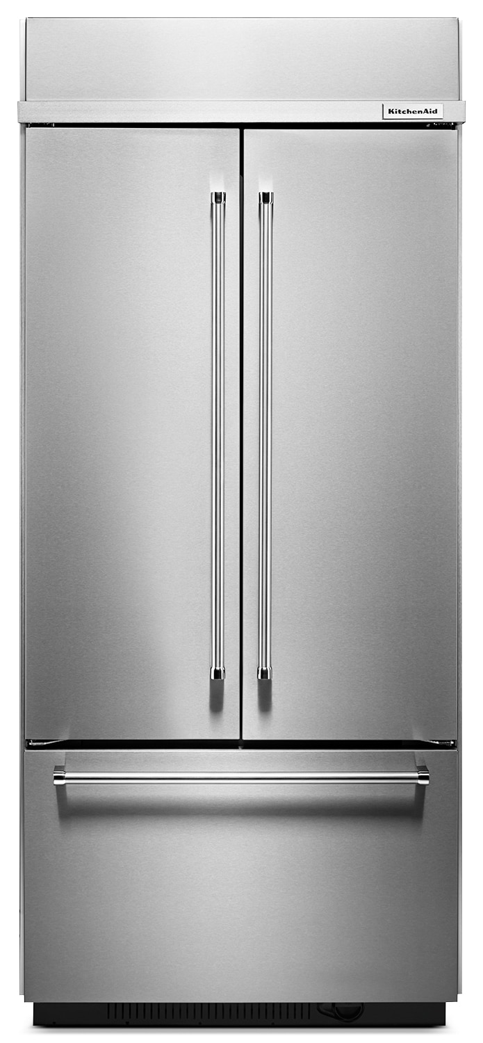 Refrigerators and Freezers - KitchenAid 20.8 Cu. Ft. French Door Refrigerator – Stainless Steel