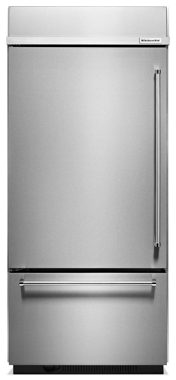 Refrigerators and Freezers - KitchenAid Stainless Steel Bottom-Freezer Refrigerator (20.9 Cu. Ft.) - KBBL206ESS