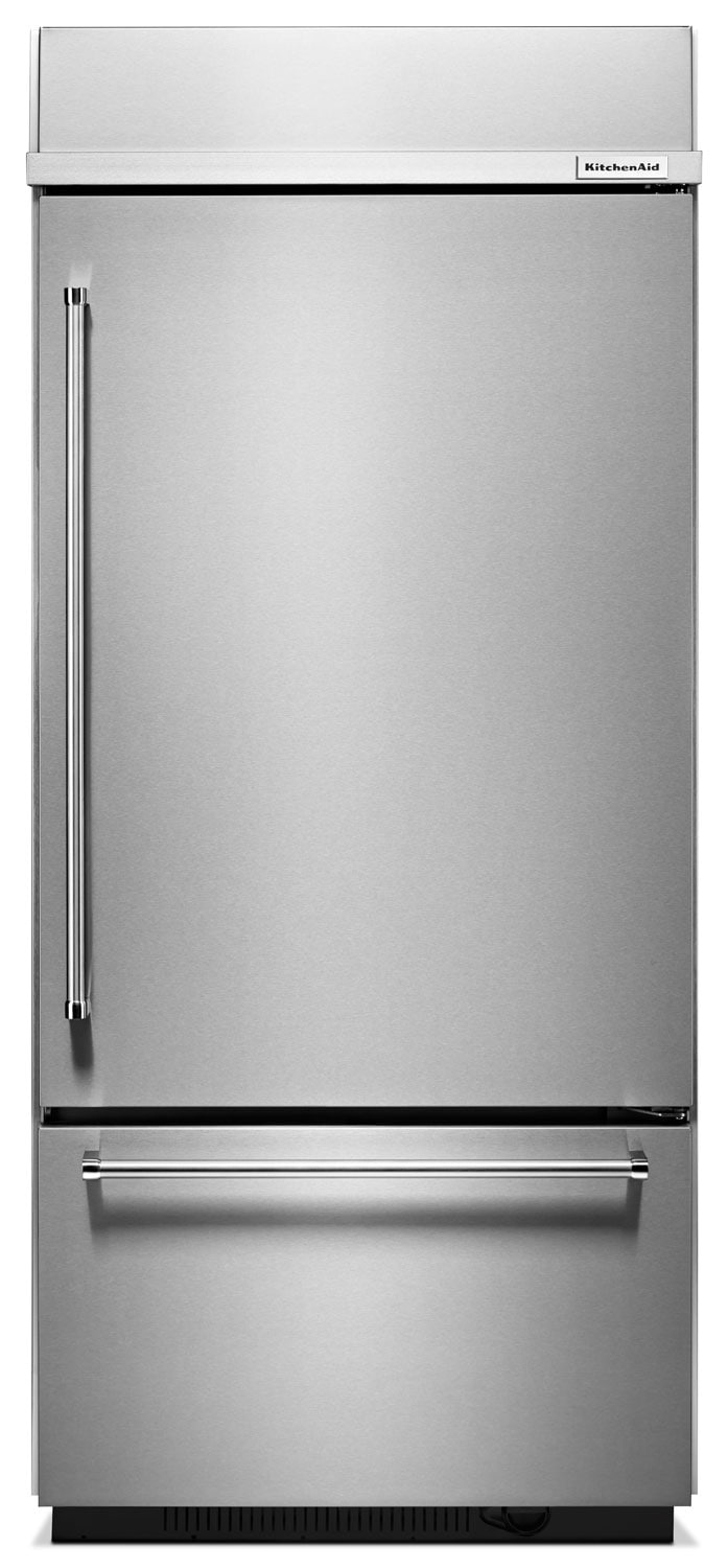 KitchenAid 20.9 Cu. Ft. Built-In Bottom-Mount Refrigerator – KBBR206ESS